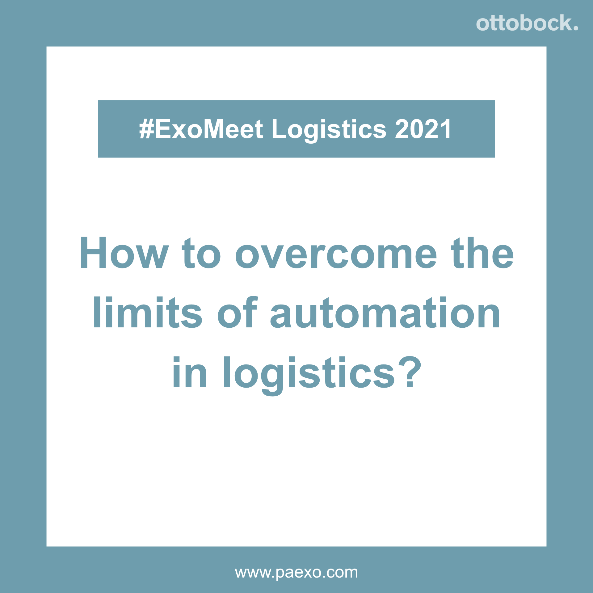 Automation in logistics